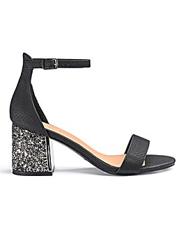 Anji Block Heels Extra Wide Fit