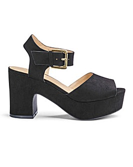 Jenni Platform Sandals Extra Wide Fit