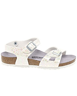 Birkenstock Rio Girls White Sandals