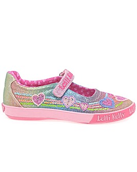 Lelli Kelly Rainbow Heart Dolly Shoes
