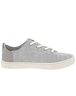 TOMS Lenny Lace Kids Youth Canvas Shoes