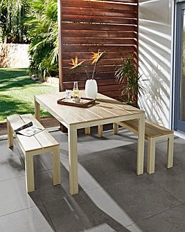 Jakarta Polywood Table and Bench Set