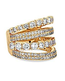 Jon Richard Crystal Multi Row Ring