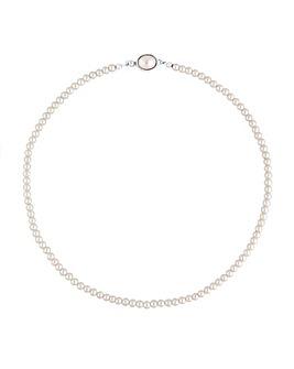 Jon Richard Cream Pearl Clasp Necklace
