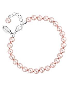Jon Richard Pink Pearl Bracelet