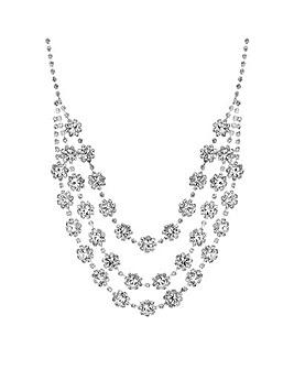 Jon Richard Floral Multi Row Necklace