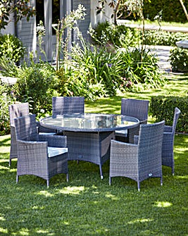 Adelaide 6 Seat Round Table Dining Set