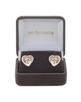 Jon Richard Pave Heart Earring
