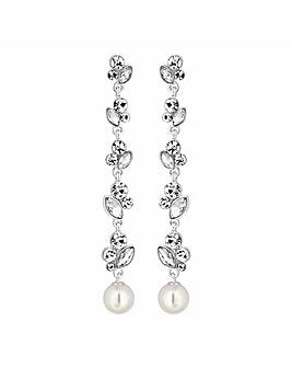 Alan Hannah Crystal And Pearl Earring