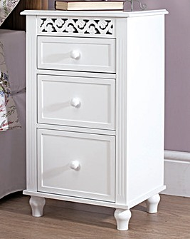 French Inspired 3 Drawer Bedside Cabinet