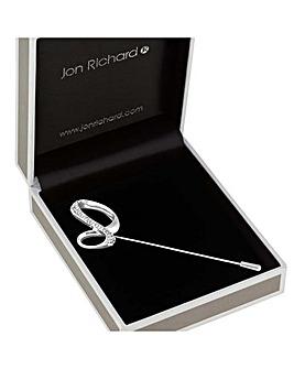 Jon Richard Infinity Scarf Pin Brooch