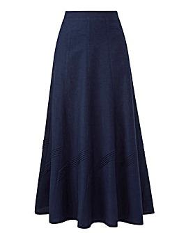 Linen Mix Skirt 33in