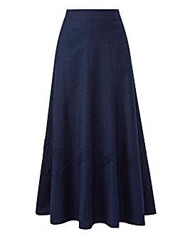 Linen Mix Skirt 30in