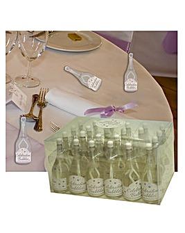 Bubbles Favors Clear Bottle White Wand