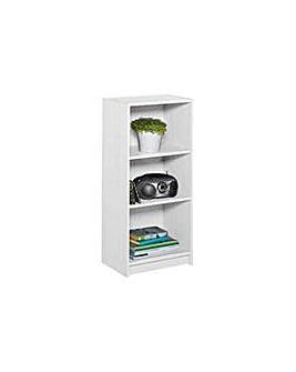 Maine Half Width Small  Bookcase White