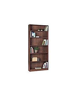 Maine Tall Wide Bookcase  Walnut Effect