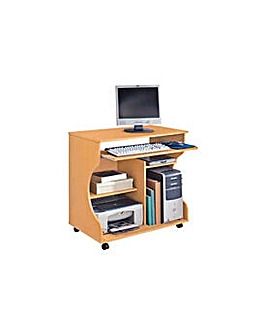 Curved Computer Desk  Beech Effect