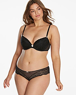 Ann Summers Sexy Lace Black Plunge Bra