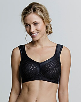 Miss Mary Non Wired Jacquard Bra Black