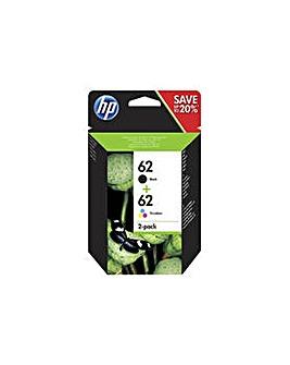 HP 62 Black & Tri-Colour Ink Cartridges