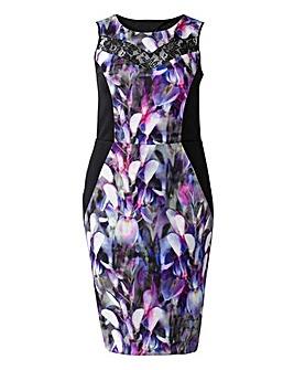 Grazia Orchid Print Bodycon Dress