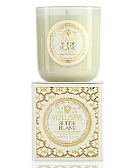 Voluspa Suede Blanc 12oz Boxed Candle