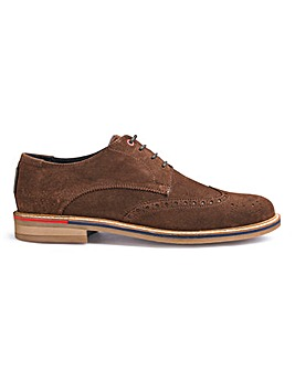 Ben Sherman Lock Suede Brogues Wide Fit