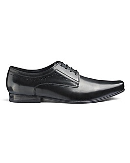 Formal Leather Derby Shoes Extra Wide
