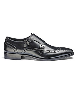 Dune Patch Double Monk Brogues