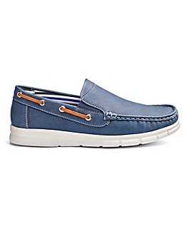 Cushion Walk Slip On Boat Shoes Wide Fit