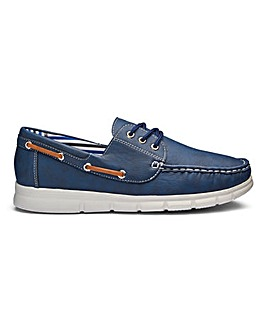 Cushion Walk Lace Up Boat Shoes Standard