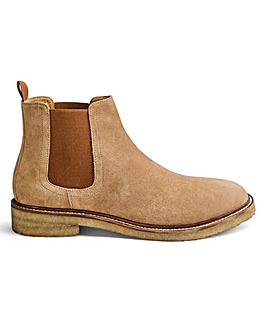 Suede Crepe Sole Chelsea Boots