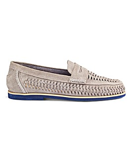 Suede Interweave Loafer Standard Fit.