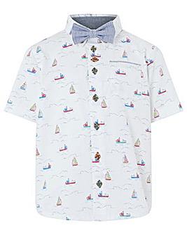 Monsoon Simon Sail Boat Shirt Bow Tie