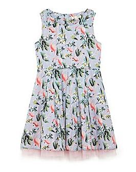 Yumi Girl Flamingo Print Party Dress