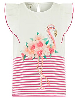 Monsoon Frankie Flamingo Top