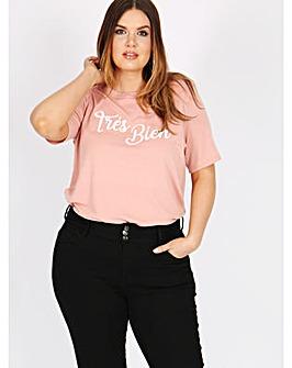 Koko tres bien slogan t-shirt