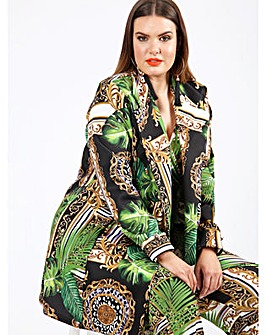 Koko Baroque Print Longline Blazer