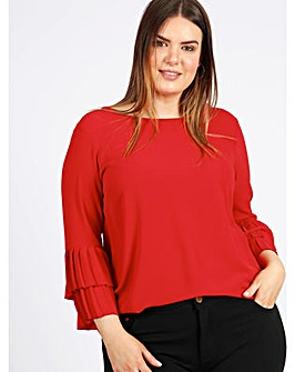 Lovedrobe GB Red Pleated Top
