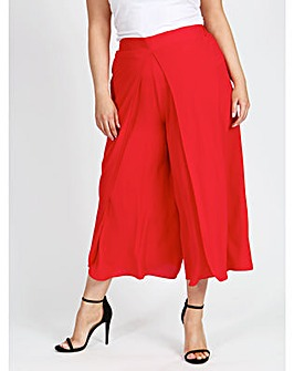 lovedrobe GB Red Wrap Front Culottes