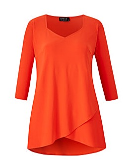 Grace tunic with slit detail to sleeve