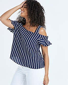 Quiz Curve Cold Shoulder Bardot Top