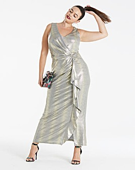 Joanna Hope Metallic Maxi Dress