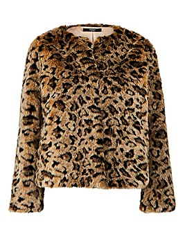 Joanna Hope Animal Print Coat