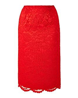 Joanna Hope Lace Pencil Skirt