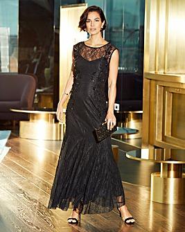 Joanna Hope Lace Bead Detail Dress