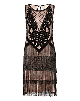 Joanna Hope Tassel Beaded Dress