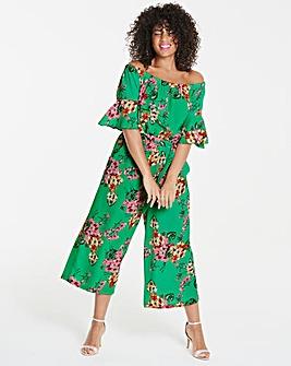 Quiz Curve Floral Print Jumpsuit