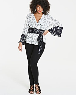 Unique 21 Floral Wrap Blouse