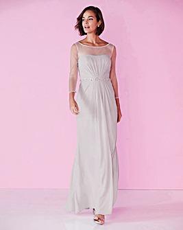 Joanna Hope Bead Trim Maxi Dress